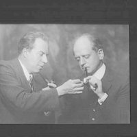 Portrait photograph of Christopher Morley and Mitchell Kennerley