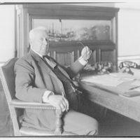 Samuel M. Vauclain, Chairman of the Board, Baldwin Locomotive Works. Samuel M. Vauclain seated at desk II