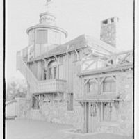 Starling W. Childs, residence in Norfolk, Connecticut. Sport house, lower north entrance and tower