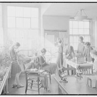 The Spence School, 22 E. 91st St., New York City. Nature class at windows