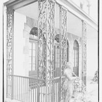 Z.G. Simmons, Sr., residence in Greenwich, Connecticut. Iron detail I