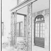 Z.G. Simmons, Sr., residence in Greenwich, Connecticut. Iron detail II