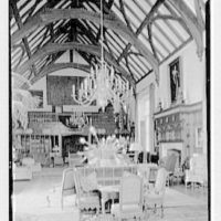 Charles E.F. McCann, residence in Oyster Bay, Long Island, New York. General view, music room to balcony