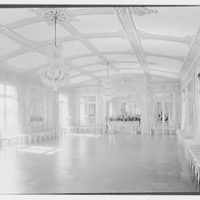 Count Alphonso P. Villa, Fairholme, residence in Newport, Rhode Island. Ballroom with chairs II