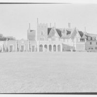 Count Alphonso P. Villa, Fairholme, residence in Newport, Rhode Island. General view from ocean, p.m.