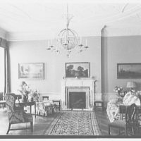 R.C. Leffingwell, residence at 38 E. 69th St., New York City. Living room, to fireplace