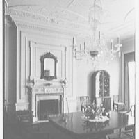 R.C. Leffingwell, residence at 38 E. 69th St., New York City. Vertical of dining room fireplace