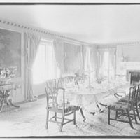 Richard H. Grant, Normandy Farms, residence in Dayton, Ohio. Dining room, to fireplace