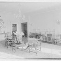 Roy D. Chapin, residence at 447 Lake Shore, Grosse Pointe Farms, Michigan. Dining room, to sideboard