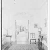 Roy D. Chapin, residence at 447 Lake Shore, Grosse Pointe Farms, Michigan. Living room vista to hall