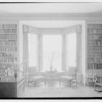 Roy D. Chapin, residence at 447 Lake Shore, Grosse Pointe Farms, Michigan. Study, bay window and bookcases