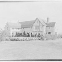 Timothy J. Shea, residence in Bay Shore, Long Island, New York. Entrance view from right