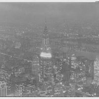 Empire State Building. [View from at] night, to Queensboro Bridge
