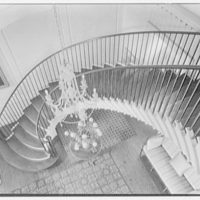 Gerald B. Lambert, Carter Hall, residence in Millwood, Virginia. Down view on stairs I