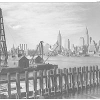 New York city views. Skyline and river from Warner Quinlan's, Long Island City I