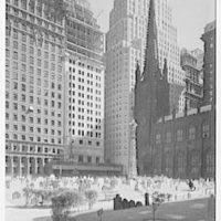 New York city views. Trinity churchyard III