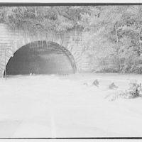Flood of August 23, 1933. Rock Creek tunnel under Massachusetts Ave.