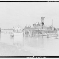 Flood of August 23, 1933. Speedboat concession at Hains Point