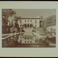 Master prints. Anthony Campagna, residence in Riverdale-on-Hudson, New York City, house reflected in pool