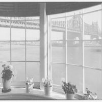 Mrs. Frederick Havemeyer, residence at 16 Sutton Sq., New York City. View of bridge through stair hall windows