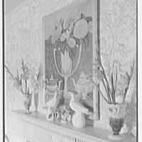 Mrs. Frederick Johnson, residence in Saratoga Springs, New York. Morning room fireplace sharp