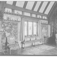 Mrs. Lorenzo E. Woodhouse, the Play House, residence in Easthampton, [i.e., East Hampton] Long Island, New York. Little window, pewter and tapestries