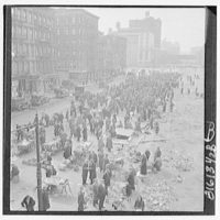 New York City views. 1933 junk markets I