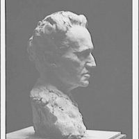 Portrait sculpture of Arnold Genthe by Brenda Putnam