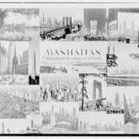 Title page of Manhattan bound volume. Montage