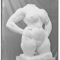 Gaston Lachaise sculpture at 42 Washington Mews, New York City. Torso I