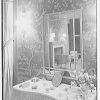 John N. Conyngham, Hayfield Farm, residence in Lehman Township, Pennsylvania. Blue bedroom, dressing table I