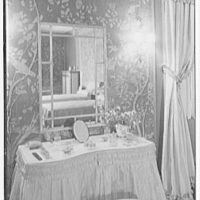 John N. Conyngham, Hayfield Farm, residence in Lehman Township, Pennsylvania. Blue bedroom, dressing table II