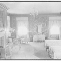 John N. Conyngham, Hayfield Farm, residence in Lehman Township, Pennsylvania. Blue bedroom