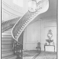 John N. Conyngham, Hayfield Farm, residence in Lehman Township, Pennsylvania. Staircase I
