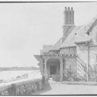 John Russell Pope, residence in Newport, Rhode Island. Detail of living room terrace I