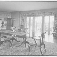 John Russell Pope, residence in Newport, Rhode Island. Dining room, to garden
