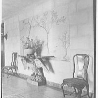 John Russell Pope, residence in Newport, Rhode Island. Eagle console in hall