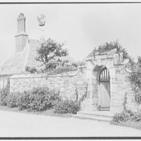 John Russell Pope, residence in Newport, Rhode Island. Garden door and studio