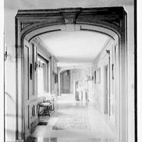 John Russell Pope, residence in Newport, Rhode Island. Hall through arch