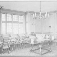John Russell Pope, residence in Newport, Rhode Island. Living room, west end
