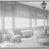 John Russell Pope, residence in Newport, Rhode Island. Porch II