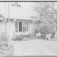 John Russell Pope, residence in Newport, Rhode Island. Terrace end, horizontal