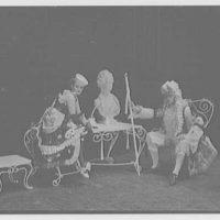Juilliard School of Music, 130 Claremont Ave., New York City. Ariane auf Naxos, Major Domo and Zerbienetta at table