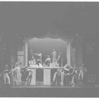 Juilliard School of Music, 130 Claremont Ave., New York City. Ariane auf Naxos, stage set with full cast II
