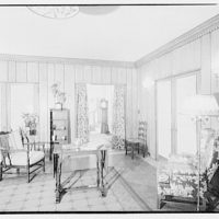 Potomac Electric Power Co. model home. Rumpus room in model home, detail