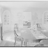 Bertram Cutler, residence in Green Village, New Jersey. Dining room, to cupboards and hall