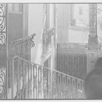 Charleston ironwork details, Charleston, South Carolina. Rutledge House, 116 Broad St., detail of window guards