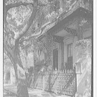 Charleston ironwork details, Charleston, South Carolina. Rutledge House, 116 Broad St., vertical detail of ironwork at entrance door