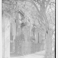 Charleston ironwork details, Charleston, South Carolina. Rutledge House, 116 Broad St., vertical detail of ironwork from left