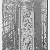 Charleston ironwork details, Charleston, South Carolina. Rutledge House, 116 Broad St., detail, close-up of column base
